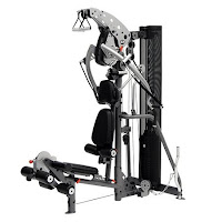 Inspire Fitness M3 Home Gym, Multi-Gym, with 210 lb weight stack, 2000 lb tensile strength cables, nylon pulleys, precision ball bearings in press arm pivot & bench press pivot points, abdominal crunch station, iso-lateral press & lat stations, leg curl station, orthopedic bench