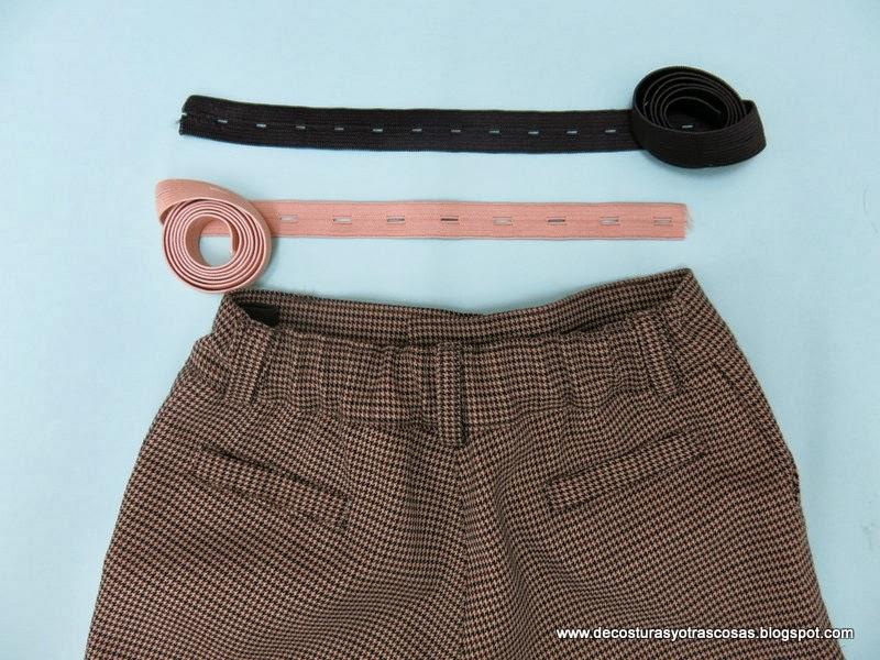 De Costuras Y Otras Cosas Elastico Ojalado Regulador De Cintura