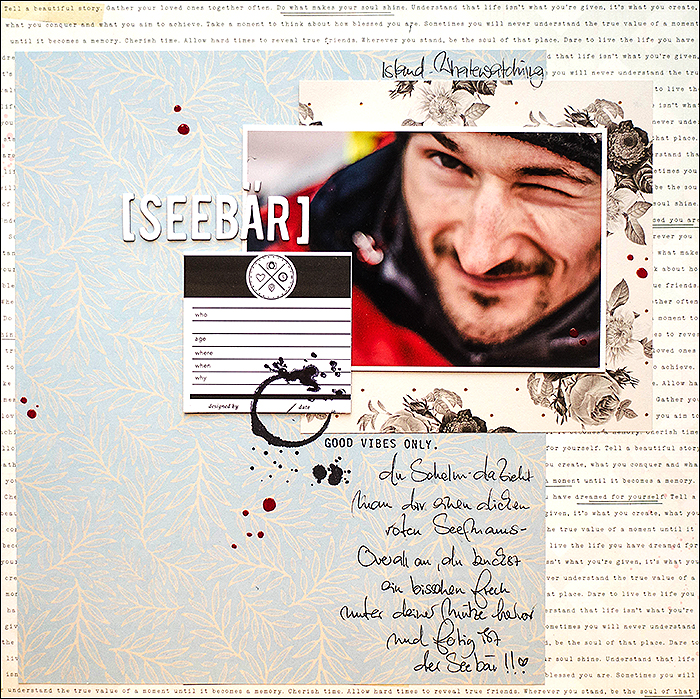 scrapbooking, Layout - Seebär