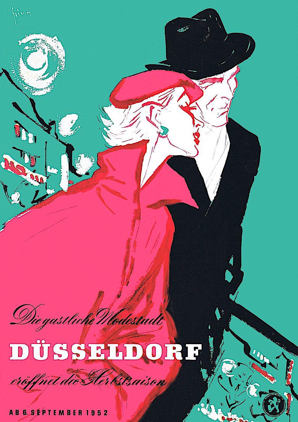 a Gerd Grimm 1952 poster for Dusseldorf