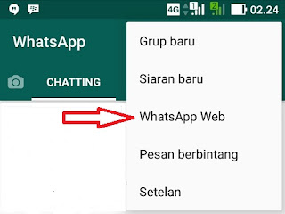 Login Whatsapp di pc lewat android