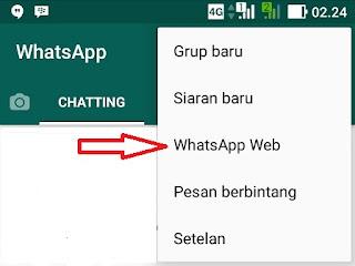 Login Whatsapp di pc lewat android
