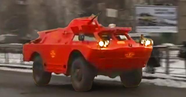 Kendaraan lapis baja Militer jadi Taksi