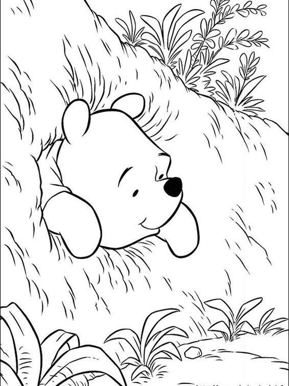Tranh cho bé tô màu gấu Pooh 29
