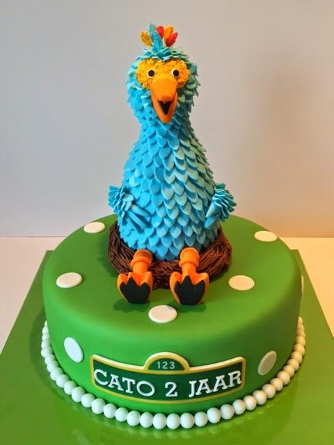 sesamstraat taart Pino Sesamstraat taart | Taarten; Gemaakt door Jonne sesamstraat taart