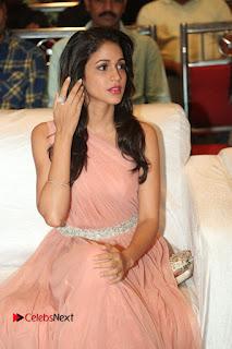 Lavanya Tripathi Pictures in Long Dress at Srirastu Subhamastu Pre release Function
