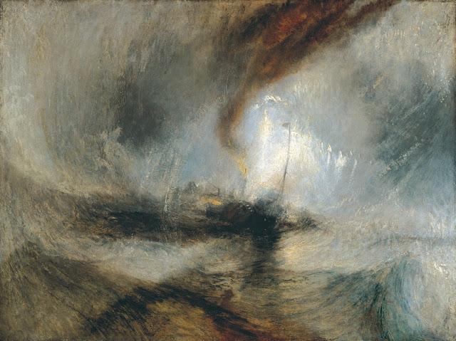 Barco de vapor en puerto con tormenta de nieve – W. Turner
