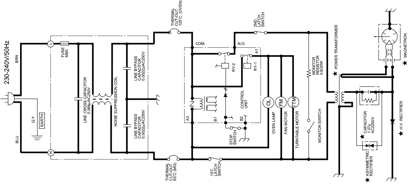 Sharp R 3C59 Microwave oven – circuit diagram – Wiring