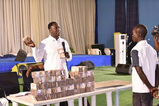 SENIOR PROPHET JEREMIAH OF CHRIST MERCY LAND GAVE OUT 40MILLION NAIRA TO CHURCH MEMBERS