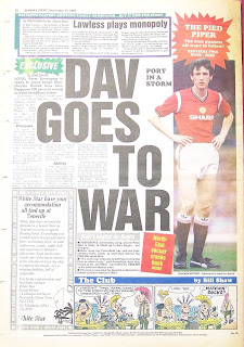 Vintage Sunday Sport newspaper back page