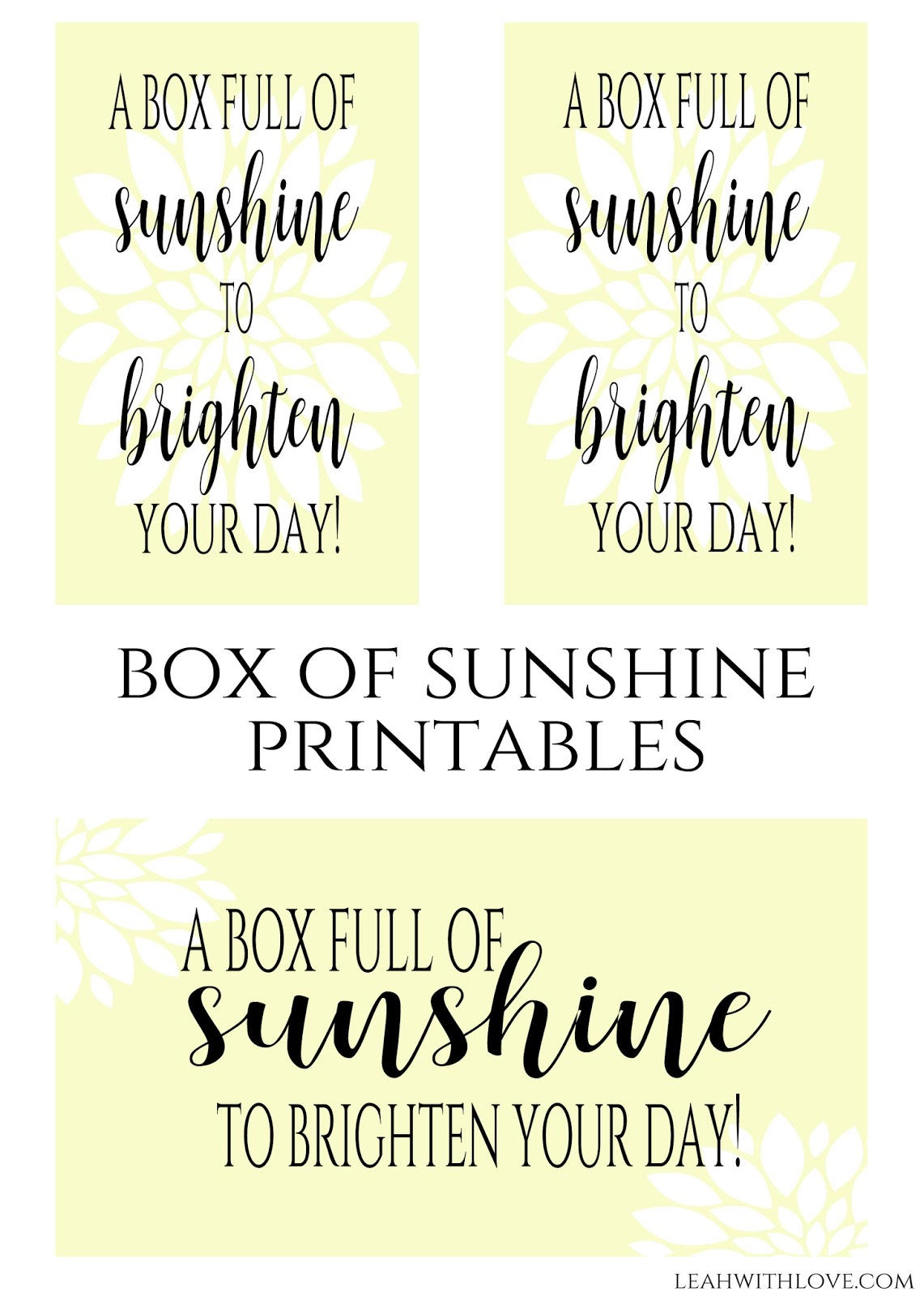 photograph relating to Box of Sunshine Printable named effortlessly developed with delight in: Box of Solar Present