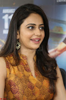 Rakul Preet Singh smiling Beautyin Brown Deep neck Sleeveless Gown at her interview 2.8.17 ~  Exclusive Celebrities Galleries 139.JPG