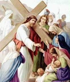 Dibujo de Jesús hablando a las mujeres