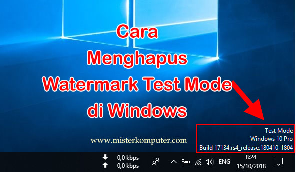 Cara Menghapus Watermark Test Mode di Windows