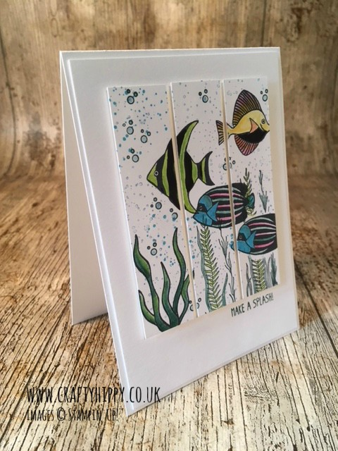 How to create the Triple Cut Card using Seaside Shore by Stampin' Up! It's a lot like the Quarter Card. Follow the instructions for this technique. www.craftyhippy.co.uk
