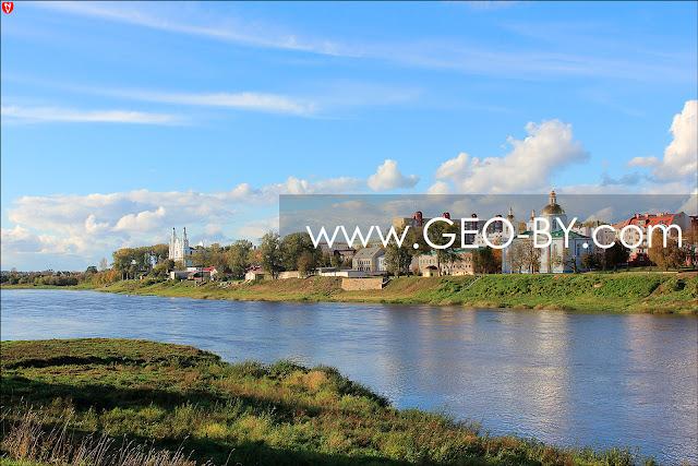 Вид на Полоцк с берега Двины