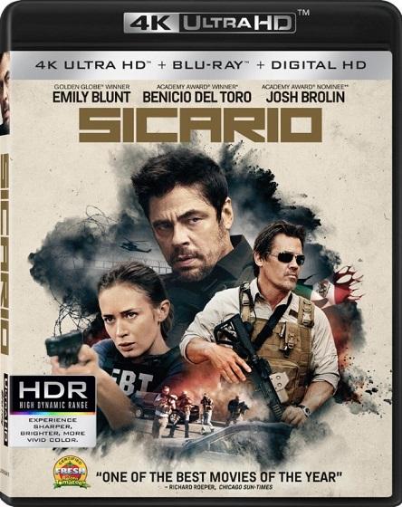 Sicario 4K (Tierra de nadie: Sicario 4K) (2015) 2160p 4K UltraHD HDR BDRip 25GB mkv Dual Audio Dolby TrueHD ATMOS 7.1 ch