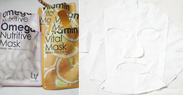 Lacvert Omega nutritive mask and vitamin vital mask Korean sheet masks