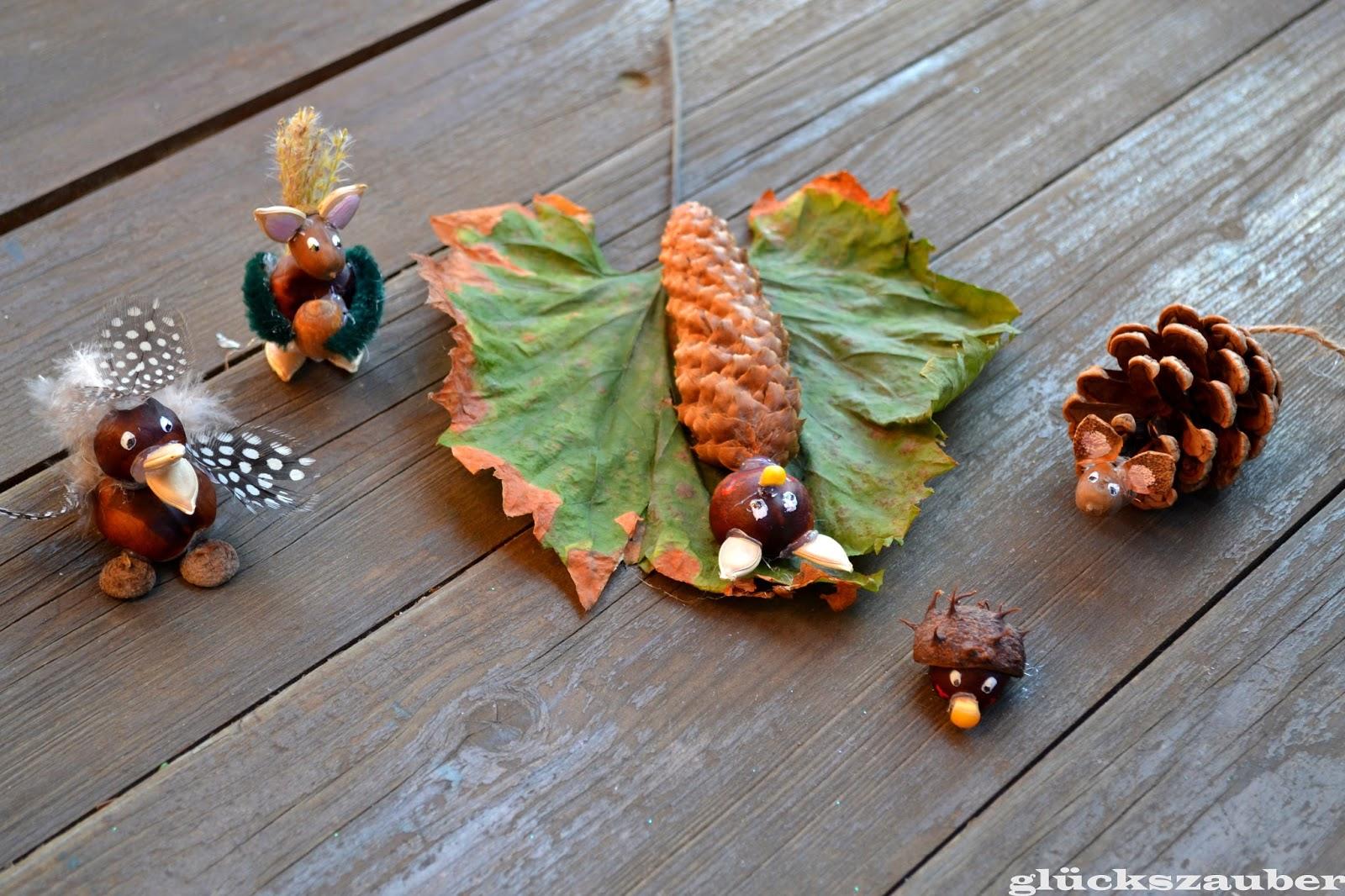 Glückszauber Basteln Mit Kindern Herbstliche Tierfiguren Aus