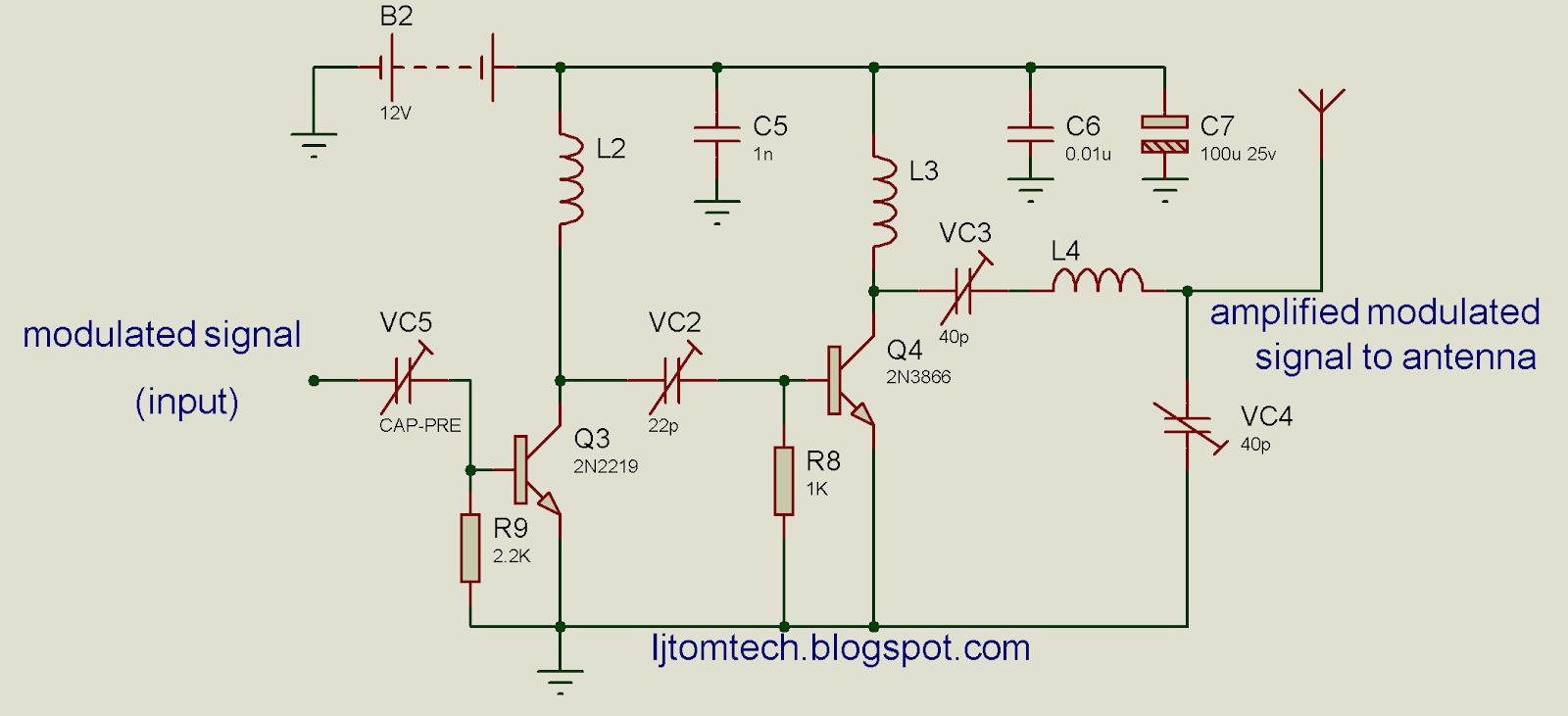 Ijtomtech Engineering Watt Fm Transmitter Circuit Diagram Signal Amplifier