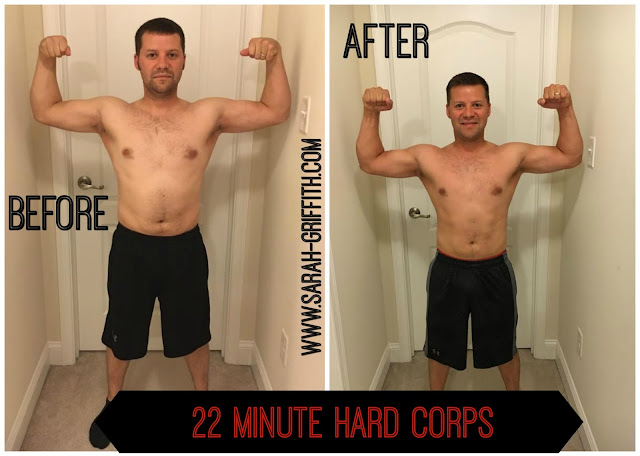 22 minute hard corps, 22 minute hard corps transformation, 22 minute hard corps mens transformation, sarah griffith, top beachbody coach, mens weight loss story,