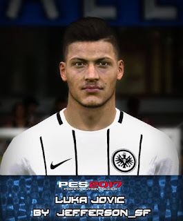 PES 2017 Faces Luka Jović by FaceEditor Jefferson_SF