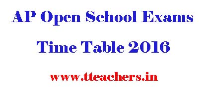 AP Open 10th Time Table 2018 aposs open school ssc exam dates