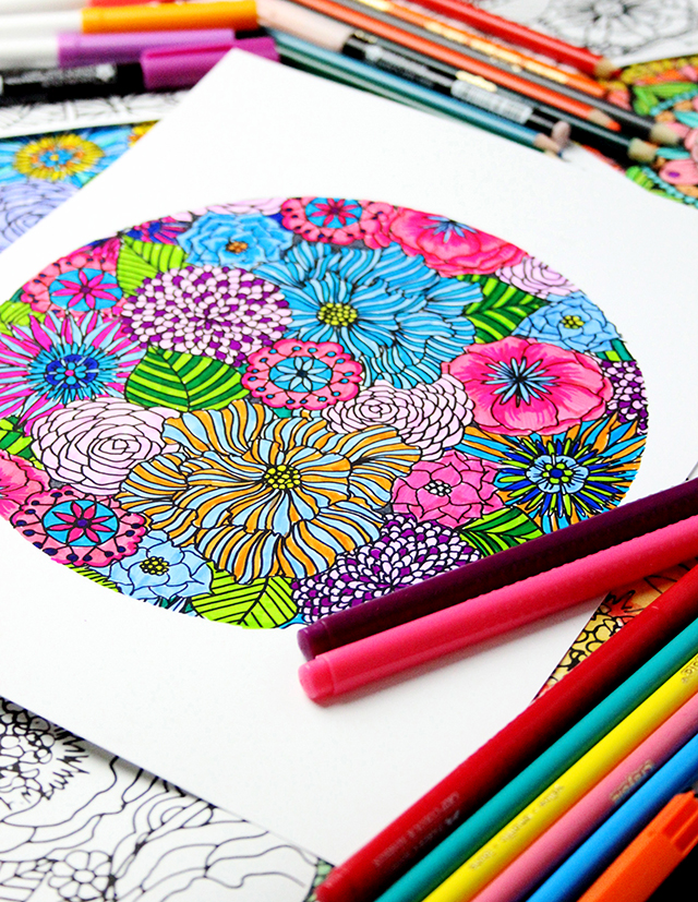 Coloring Pages Already Colored