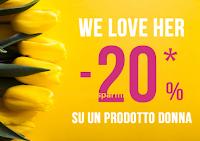 Logo Pittarello ''We Love Her'': sconto del -20% su un prodotto donna