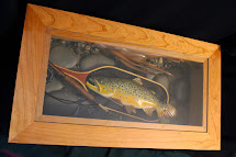 Carved Trout Stream Coffee Table