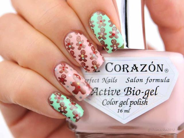 El Corazon: Cream 423/282, 423/289,nail stamping, スタンピングネイル, クリスマスネイル