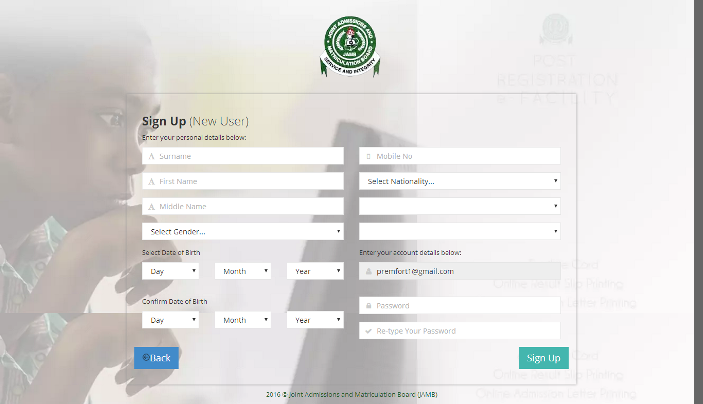See How To Create Your Personal JAMB Profile As Registration Begins Soon