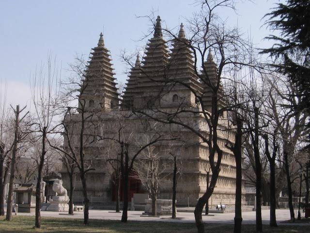 The Zhenjue Temple, Beijing, built in 1474 AD in imitation of the Mahabodhi Temple, Bodhgaya