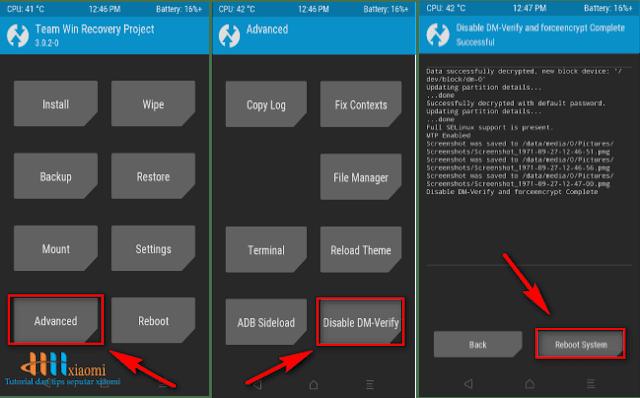 Cara pasang TWRP Recovery pada MIUI 9 Xiaomi Redmi 3S / 3X / 3S Prime Land