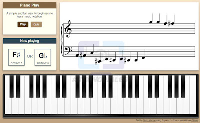 Piano animado creado con Angular