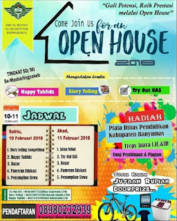 Event Open House 2018 Peserta SD/MI Se-Masbarlingcakeb