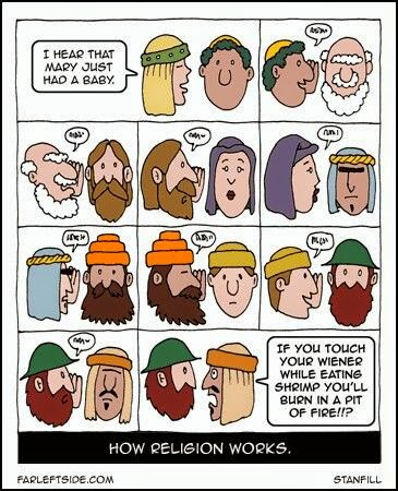 Funny How Religion Works Cartoon Strip