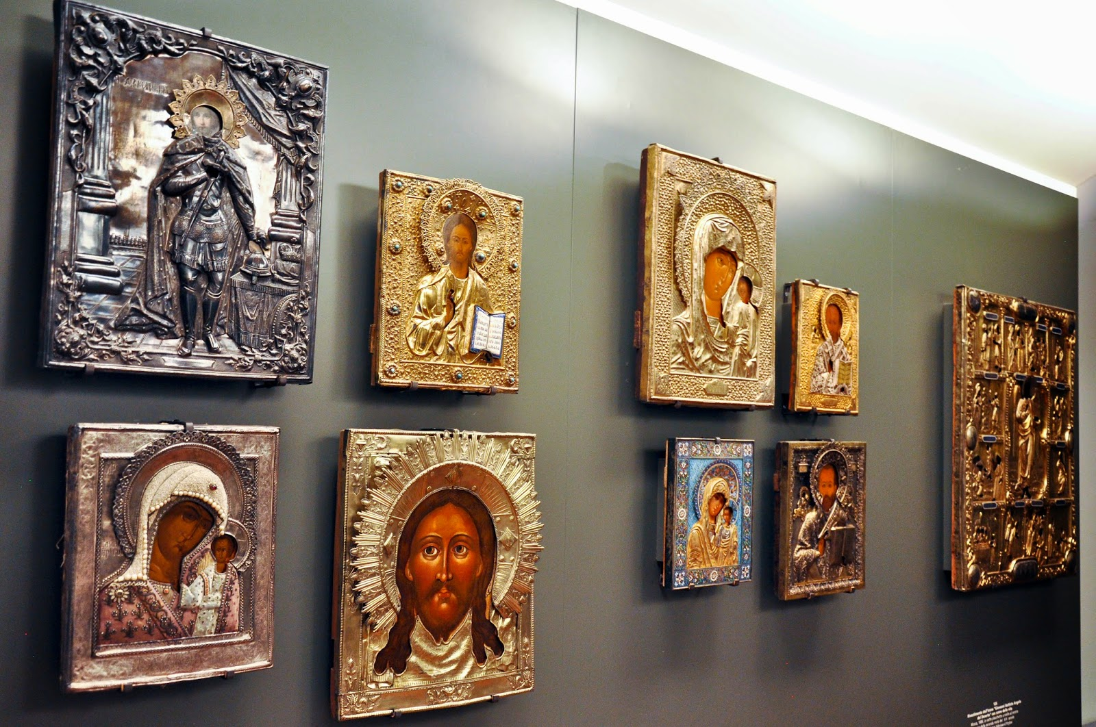Covered Russian icons in the Gallerie d'Italia, Palazzo Leoni Montanari, Vicenza, Italy
