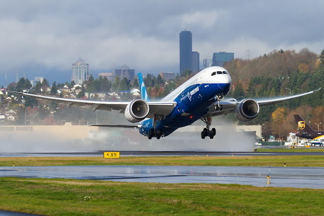 Boeing 787-9 Dreamliner While Flight Test