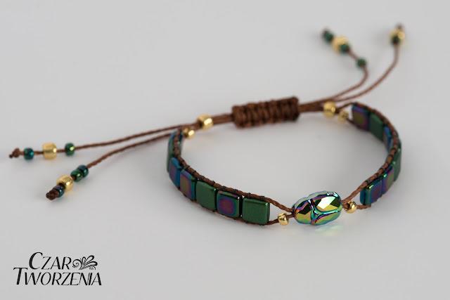 bransoletka ręcznie robiona z regulowana długością