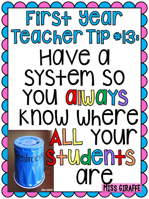 Classroom check out system and other awesome first year teacher tips and advice