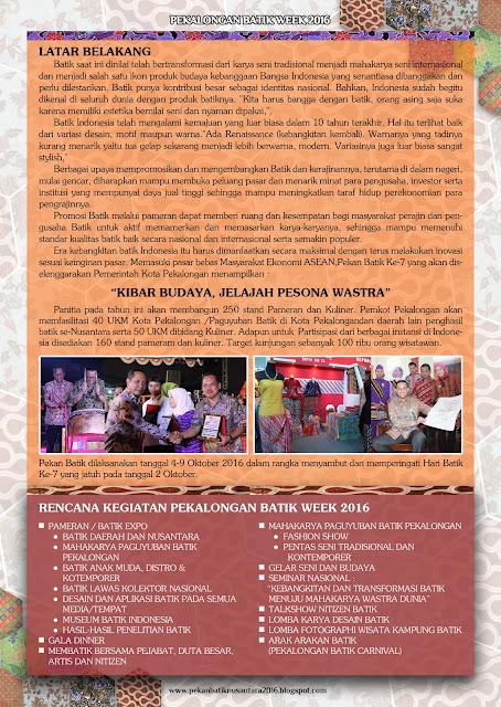 Gelaran Pekalongan Batik Week 2016 atau Pekan Batik Nusantara 2016