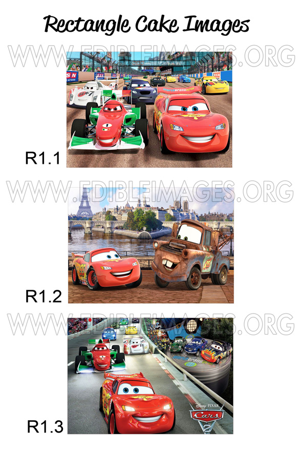 Edible Image Disney Cars