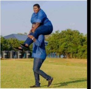 Smiles! Man Carries His Plus-Sized Fiancee On His Shoulders