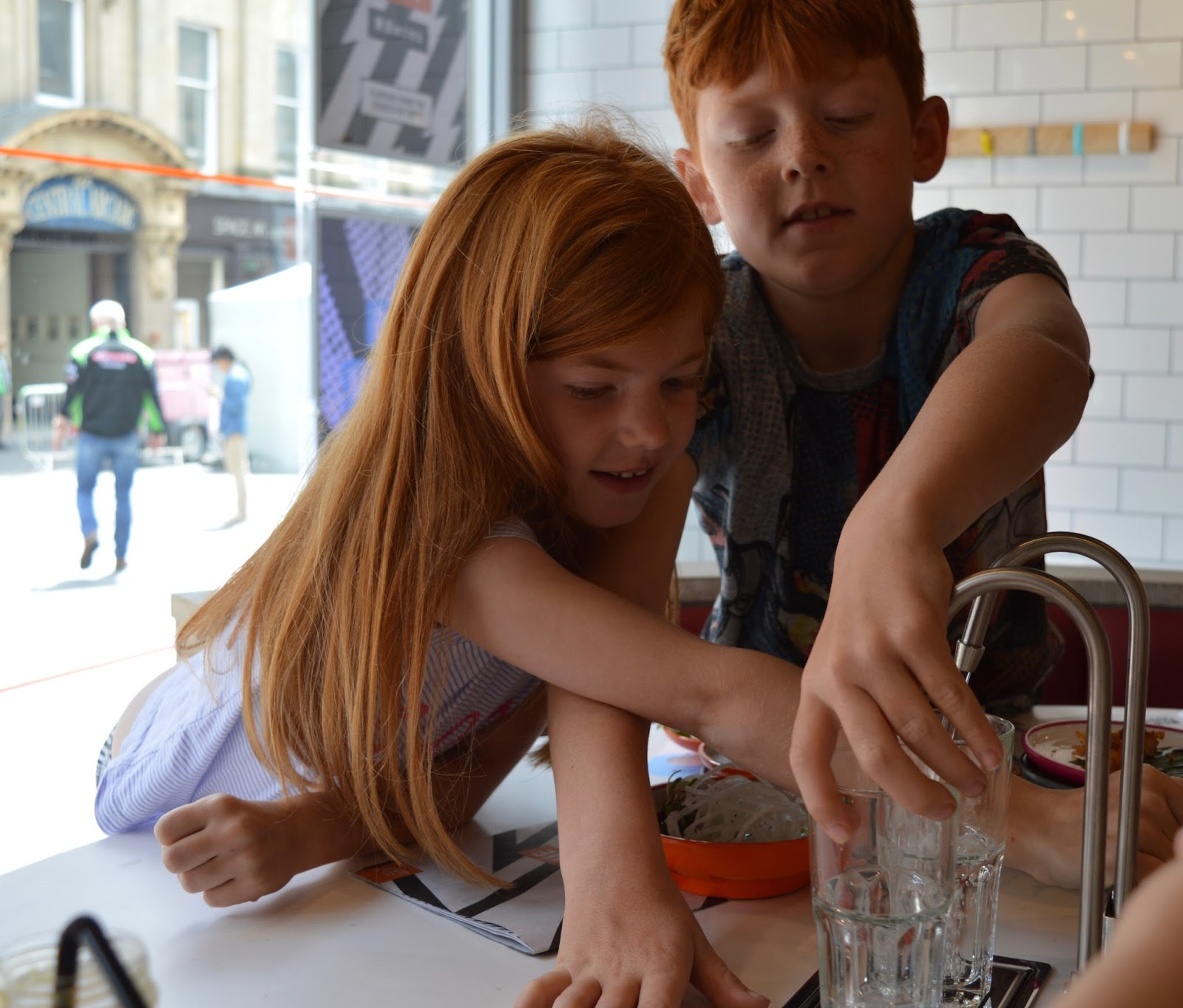 YO! Sushi Newcastle Grainger Street - Kids Menu Review - water tap