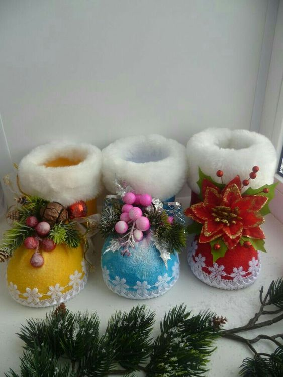 Botas De Navidad Reciclando Vasos De Plástico Haz Manualidades