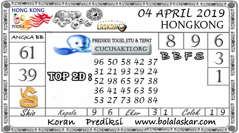 Prediksi Togel HONGKONG LASKAR4D 04 APRIL 2019