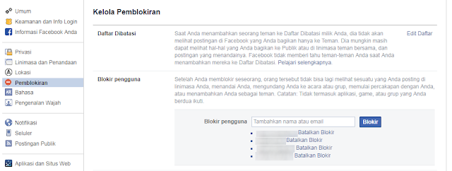 Menu Buka Blokir di Browser Facebook