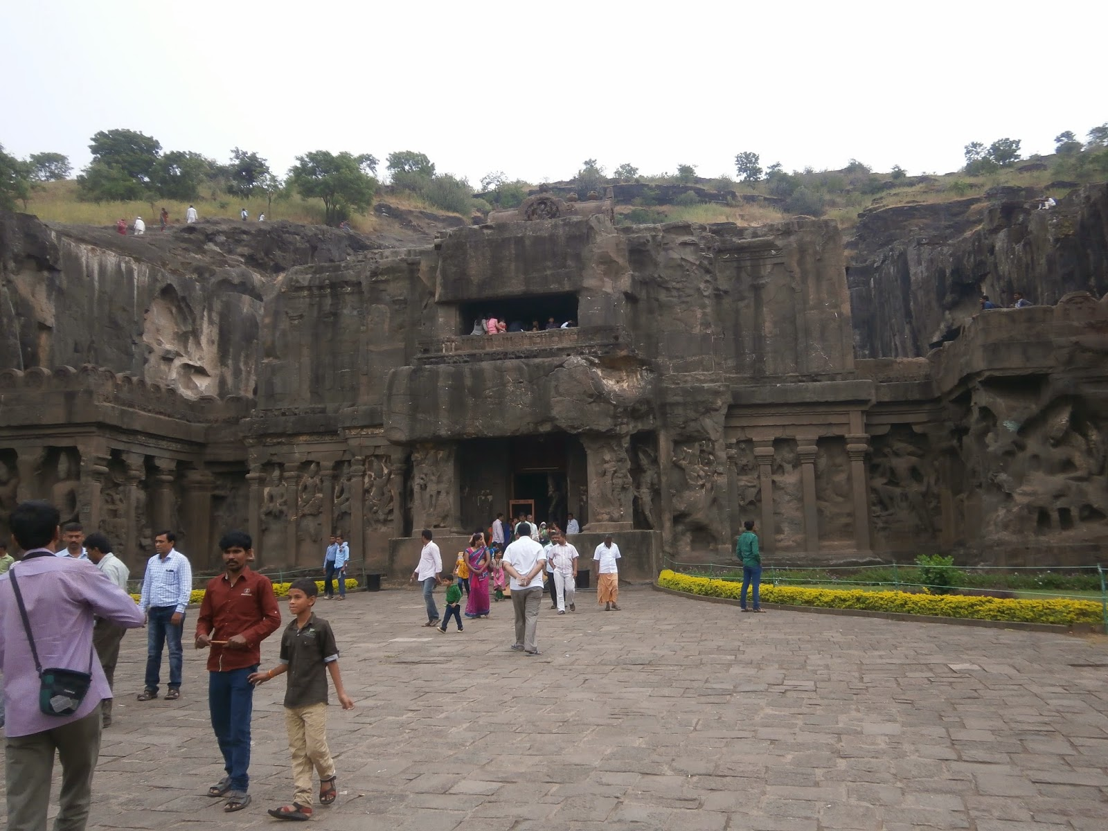 Ellora Caves Front View