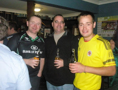 A few Irish lads having some drinks at home - it's now a far cheaper option than going to the pub.